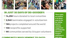 Groupon Employees Volunteered a Record-Setting 14,000 Hours in Their Local Communities Last Month