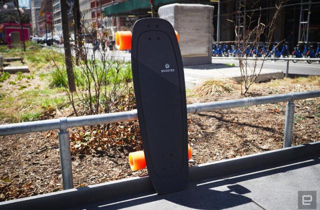 The case for Boosted's Mini electric skateboard line