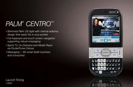More Palm Centro details leaked for Sprint