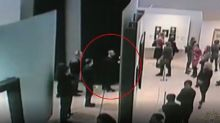 Painting recovered after world's most casual art thief caught on camera