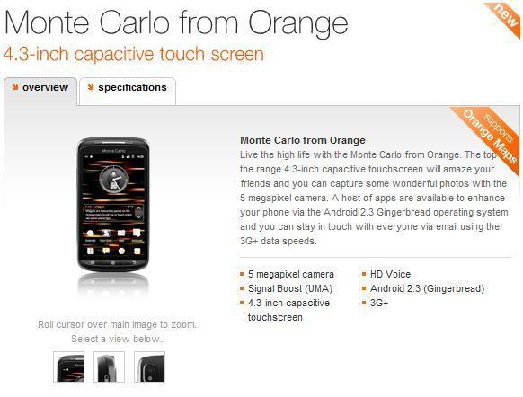 ZTE Monte Carlo arrives a month early, now available on Orange UK