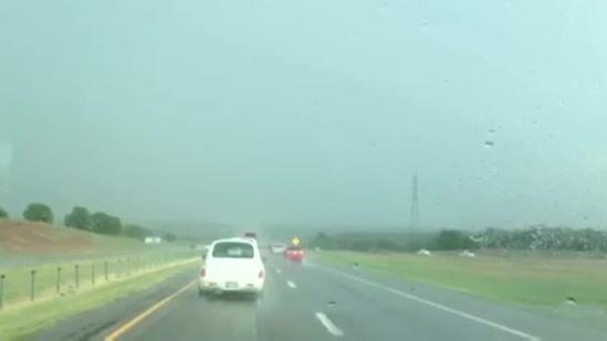 Raw video: East of I-40, Choctaw Road