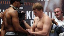Joshua weighs in 11 kilograms heavier than Povetkin