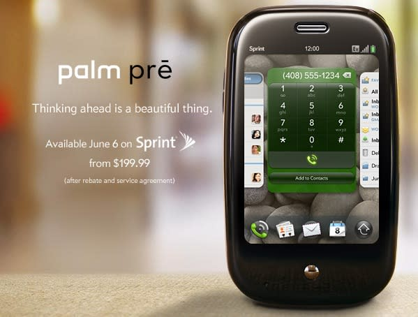 Palm Pre on June 6th for $200: It's official!