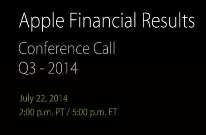 Coming on Tuesday: Apple Q3 Earnings Call
