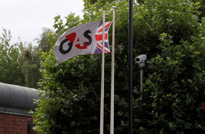 FILE PHOTO: Flags fly outside HMP Birmingham after the British government took over its running from G4S, in Birmingham