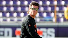 Oklahoma State's Mike Gundy wears wrestling singlet to promote upcoming match