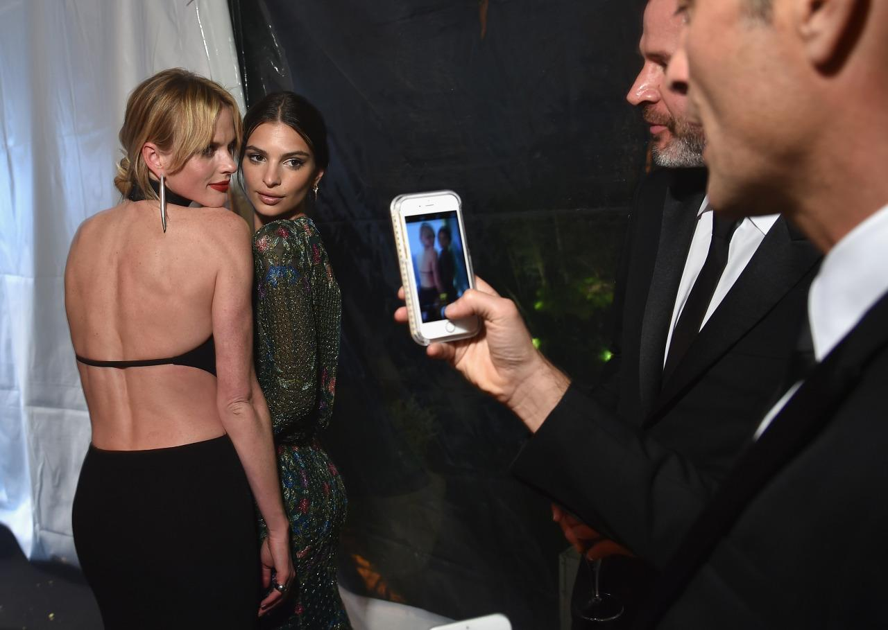 <p>Model Anne Vyalitsyna and actress Emily Ratajkowski attend the Bloomberg & Vanity Fair cocktail reception following the White House Correspondents' Dinner, April 30. <i>(Photo: Dimitrios Kambouris/VF16/WireImage)</i></p>