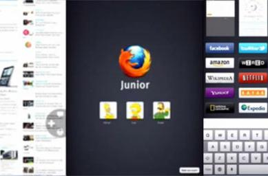 Mozilla's 'Junior' iPad browser prototype keeps it simple