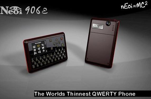Neoi 906E is world's first, thinnest, most beautiful, most calculator-esque QWERTY phone