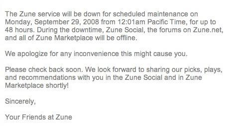 Microsoft's Xbox Live, Zune services to be down simultaneously this Monday
