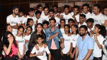 Pics: Hrithik, Mrunal shake a leg with NGO kids ahead of 'Super 30'
