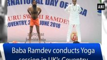 Baba Ramdev conducts Yoga session in UK's Coventry