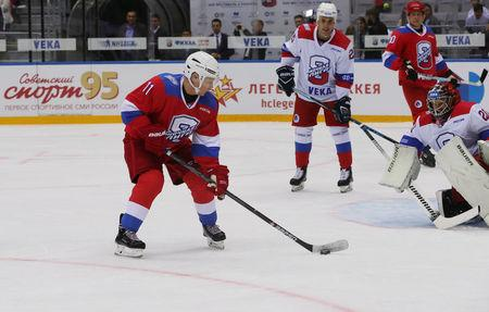 Russia S Putin Scores Eight Goals In All Star Hockey Game