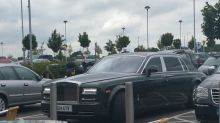 Simon Cowell's Rolls-Royce spotted in disabled bay