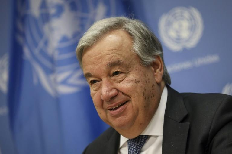 United Nations Secretary-General Antonio Guterres tells reporters that he does not plan to meet Venezuela's opposition leader
