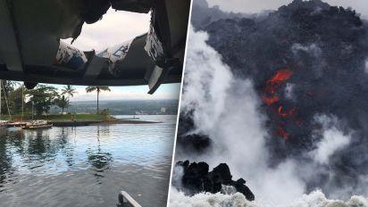Lava bomb flies through roof of tourist boat
