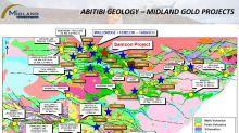 Midland Resumes Drilling on Samson on the new Gold Discovery at Golden Delilah Southeast of Wallbridge's Fenelon/Tabasco Deposit