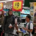 Anti-mask activists storm London supermarket demanding shoppers resist 'new world order'