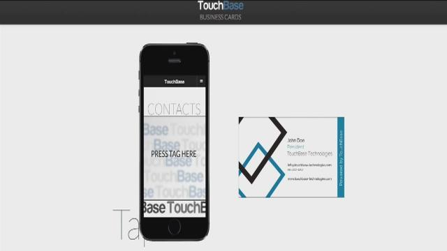 Smart business cards transfer contact information to cell phone