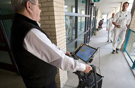 GPS-equipped walkers promise to keep elderly patients on track