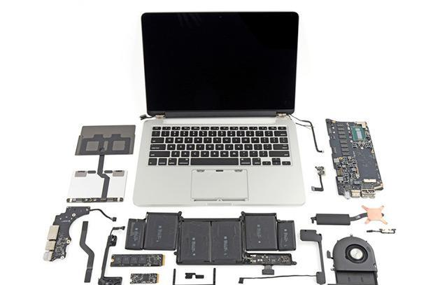 iFixit tears apart Apple's new 13-inch and 15-inch MacBook Pro