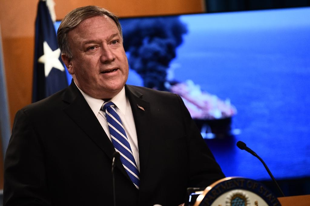 US Secretary of State Mike Pompeo has blamed Iran for the recent attacks; a hawk on Iran, he has tried to hew to President Donald Trump's less confrontational line (AFP Photo/Eric BARADAT )