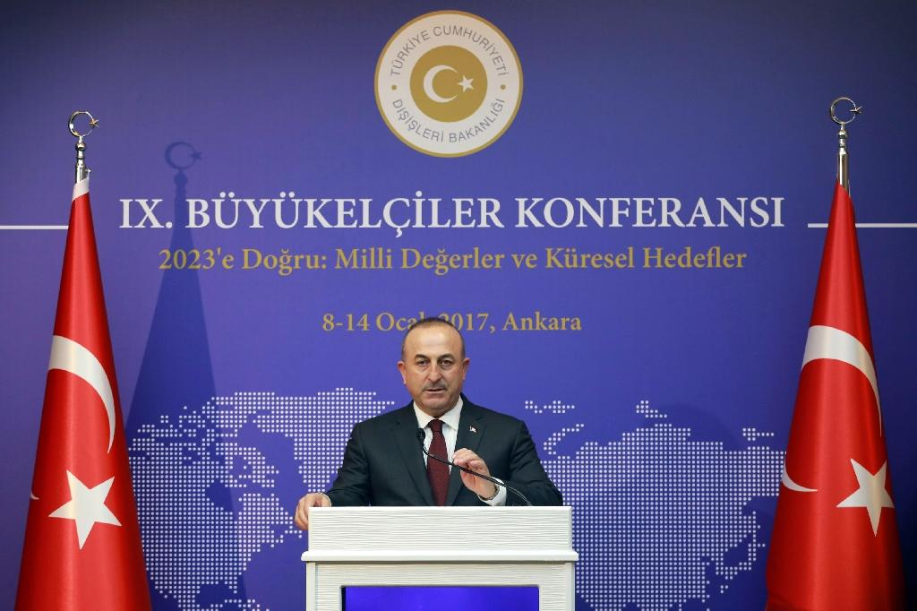 The Kurdish Democratic Union Party (PYD) and its armed wing, the Kurdish Peoples' Protection Units (YPG), have been Western allies in the Syrian conflict but are condemned by Turkey, whose Foreign Minister Mevlut Cavusoglu is seen January 14, 2017