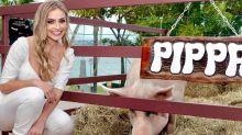 Ex-BBB Paula Sperling faz festa de aniversário para porca Pippa