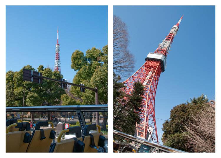 目光盯著它慢慢接近,零死角不管拍哪個角度都美的東京鐵塔,拿出相機好好記錄這一刻吧!