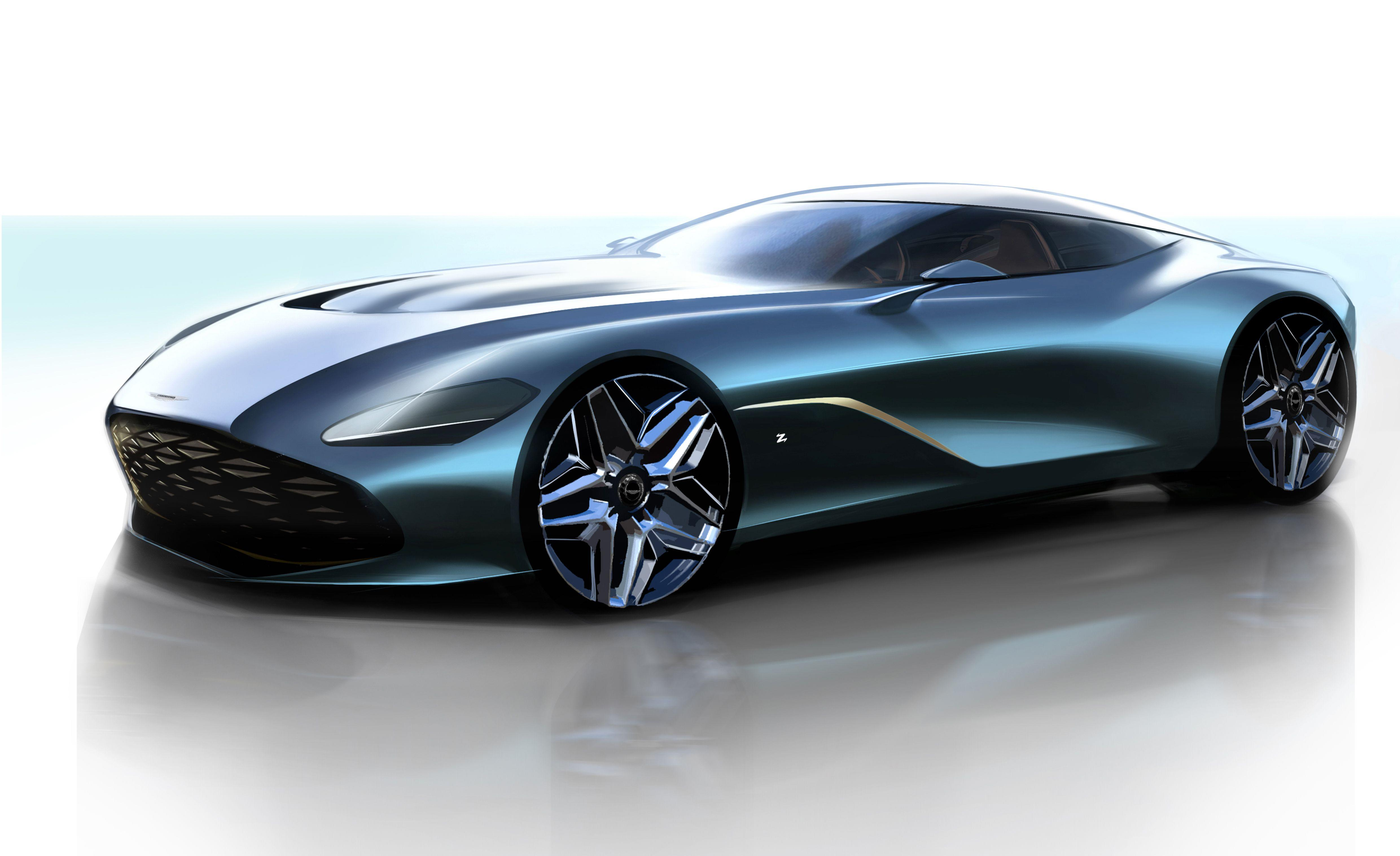"""<p>We told you about Aston's plans for a <a href=""""https://www.caranddriver.com/news/a23285641/aston-martin-zagato-specials/"""" rel=""""nofollow noopener"""" target=""""_blank"""" data-ylk=""""slk:Zagato-themed two-for-one offer"""" class=""""link rapid-noclick-resp"""">Zagato-themed two-for-one offer</a> late last year, and now the British sports-car maker has released some renderings to hint at what the forthcoming DBS GT Zagato will look like when it appears next year.</p>"""