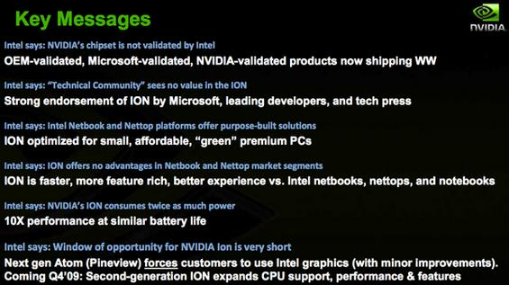 NVIDIA responds to Intel's Ion dismissal, all eyes on recess for confrontation