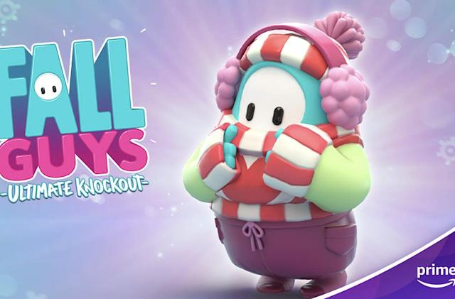 Prime Gaming members can claim a free wintry 'Fall Guys' costume