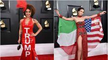 Joy Villa y Megan Pormer, duelo de vestidos reivindicativos en los Grammys 2020