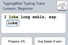 A typing tutor for the iPhone