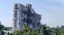 Luxury apartments demolished in southern India for violating regulations