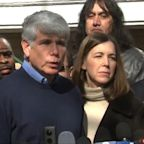 Ex-Gov. Rod Blagojevich returns to Chicago, thanks President Donald Trump for 'giving daughters their father back' after prison sentence commuted
