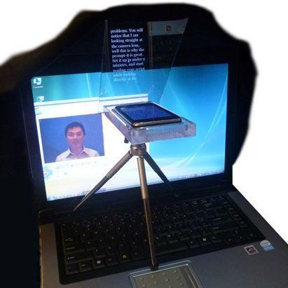 Prompt-It iPhone teleprompter perfect for business meetings, Internet cranks
