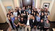 'Hamilton' touring cast visit George H.W. Bush for special performance in his office