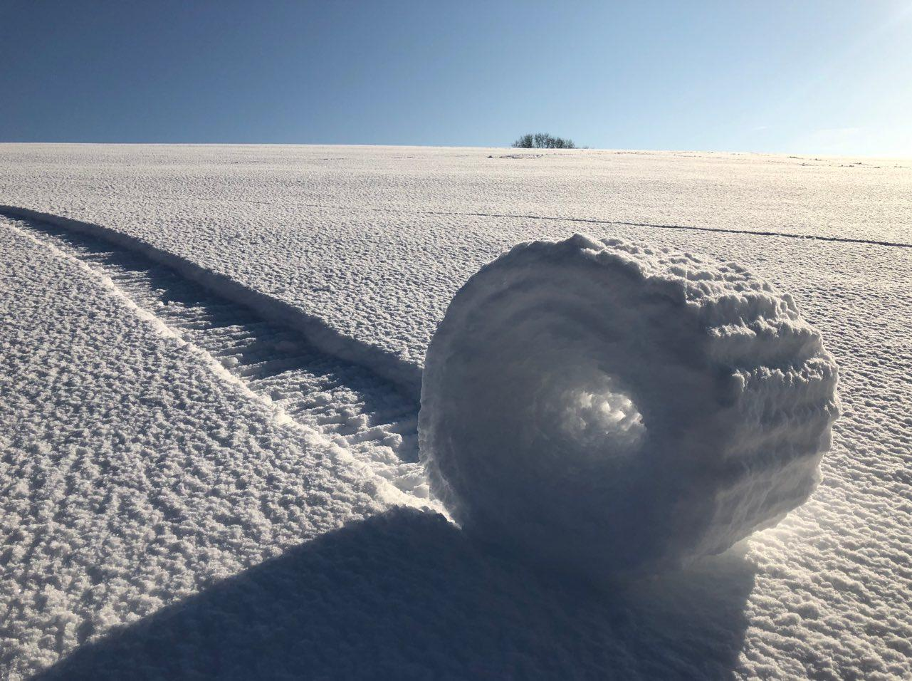 """""""Snow Rollers in Wiltshire"""" by Brian Bayliss, which was second runner up (Picture: PA)"""