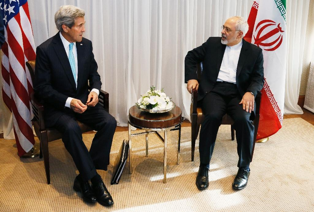 Iranian Foreign Minister Mohammad Javad Zarif (R) and US State Secretary John Kerry have held numerous talks in a bid to smooth the way towards a nuclear deal (AFP Photo/Rick Wilking)