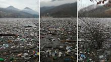 'Horrific and shameful' scenes as garbage clogs lake