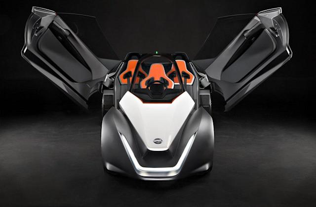 Nissan made a working prototype of its BladeGlider EV hotrod