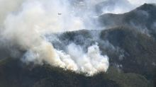 Helicopters, firefighters battle 2 forest fires in Japan