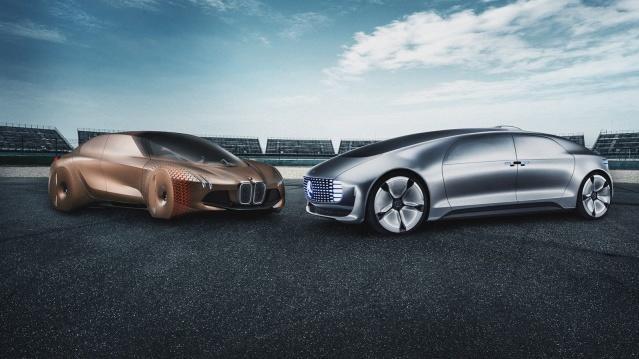 BMW Mercedes self-driving cars