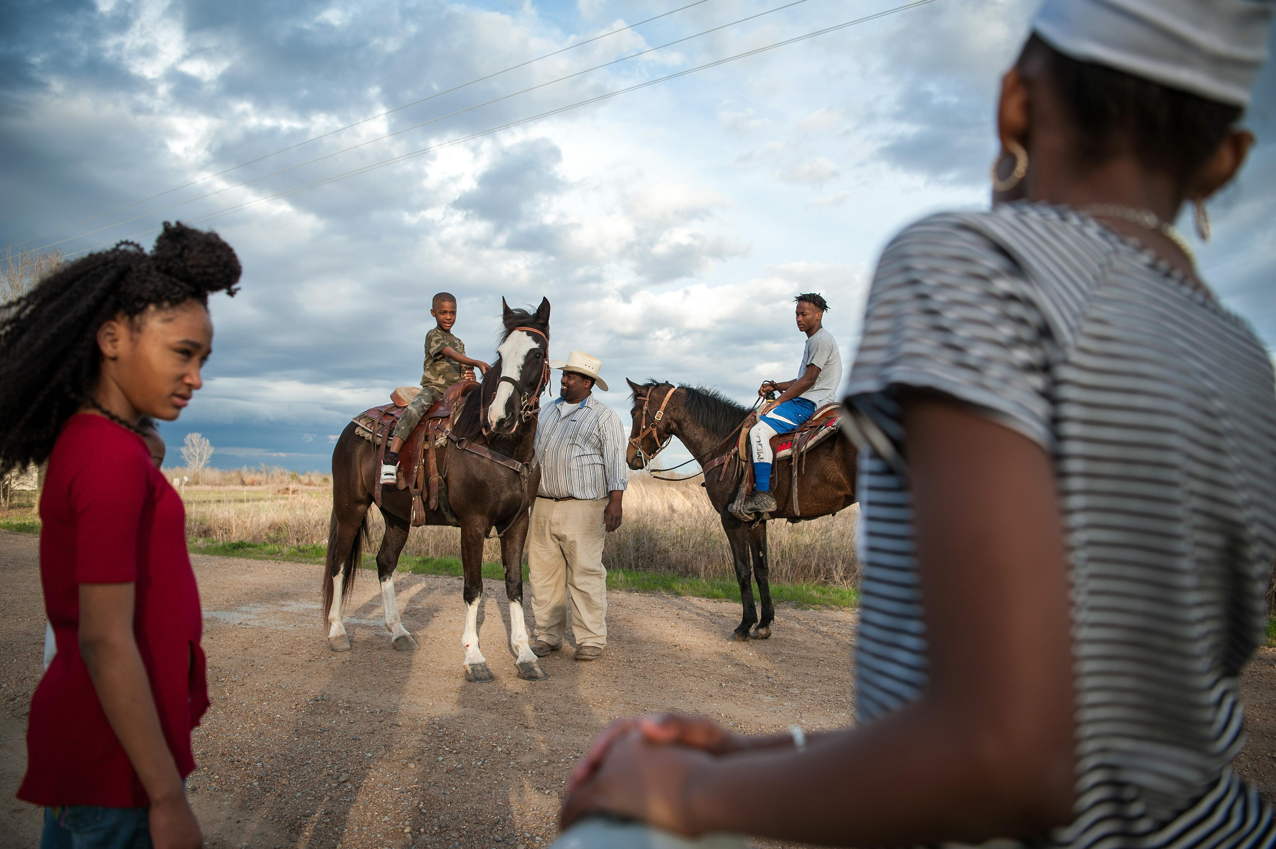 <p>Big Mike teaches kids to ride horses in rural Humphreys County, Miss., March 2018. (Photograph by Rory Doyle) </p>