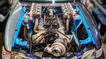 比Bugatti引擎室「更壯觀」!Honda Civic EG驚奇「九渦輪」惡搞版