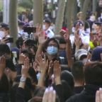 Protesters, police at Hong Kong subversion hearing