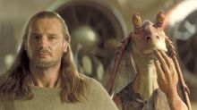 Liam Neeson defiende al actor que interpretó a Jar Jar Binks en 'Star Wars: La amenaza fantasma'