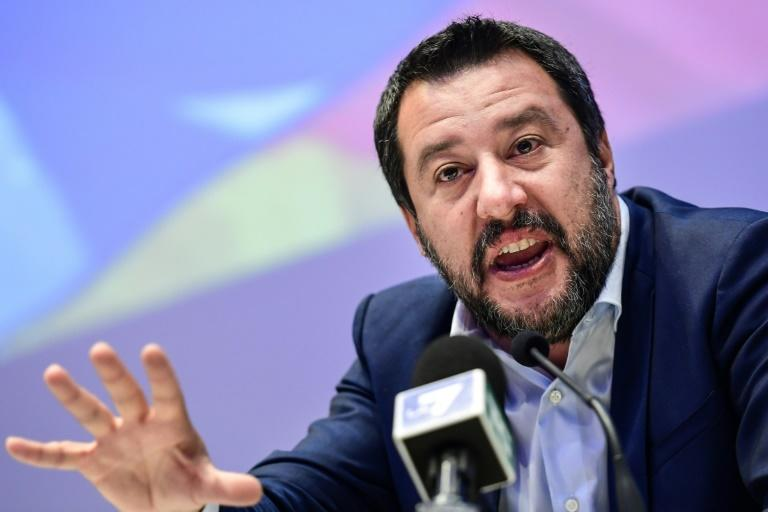 Salvini refuses to allow migrant rescue vessels to dock as part of his hardline policies (AFP Photo/Miguel MEDINA)